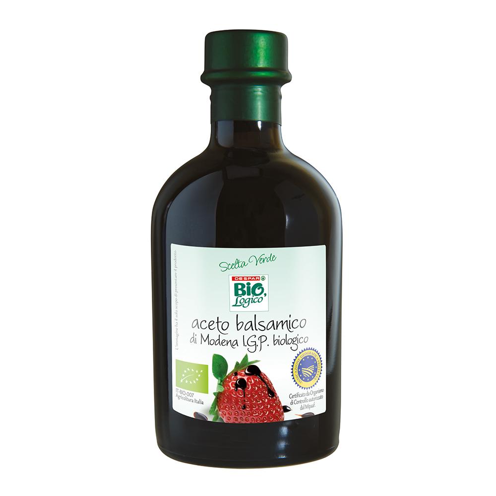 Aceto balsamico di Modena IGP biologico linea prodotti a marchio Despar Bio,Logico