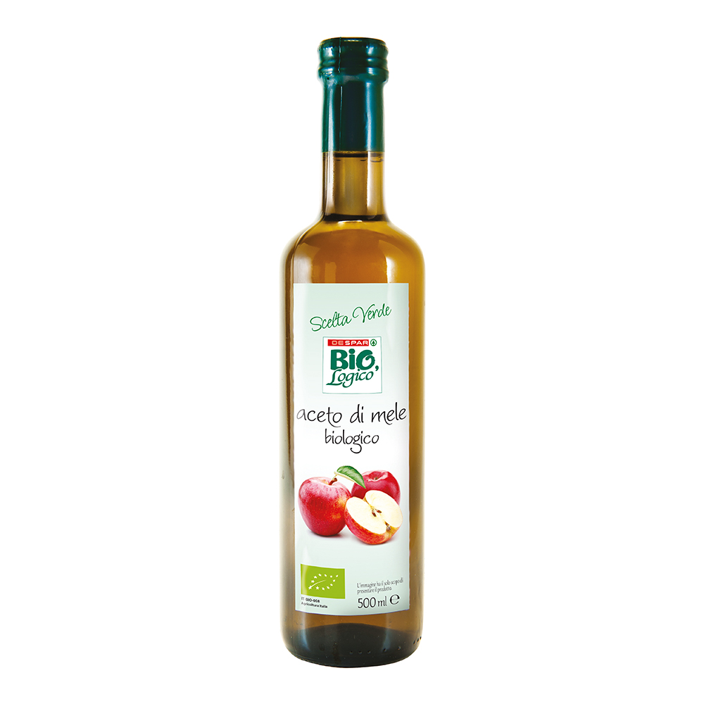 Aceto di mele biologico linea prodotti a marchio Despar Bio,Logico
