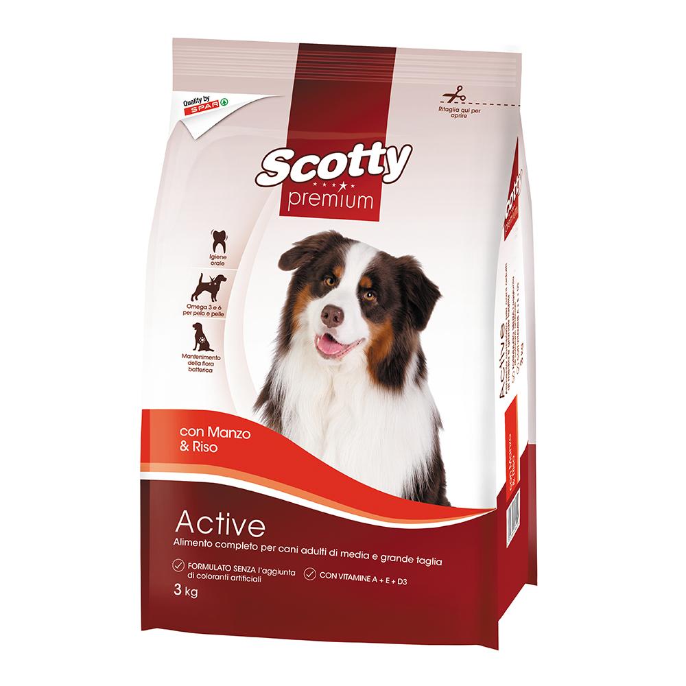 Alimento completo per cani adulti con manzo e riso linea prodotti a marchio Despar Scotty Premium