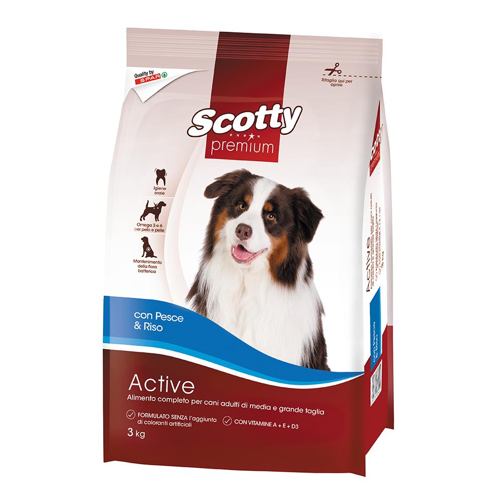 Alimento completo per cani adulti con pesce e riso linea prodotti a marchio Despar Scotty Premium