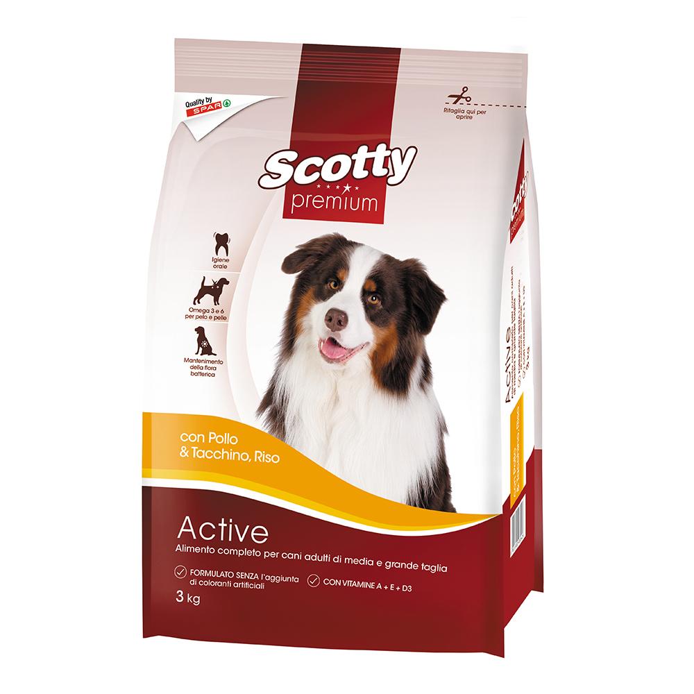 Alimento completo per cani adulti con pollo, tacchino e riso linea prodotti a marchio Despar Scotty Premium
