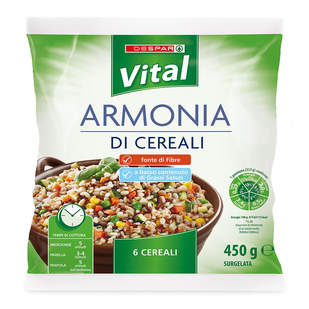 Armonia di cereali linea prodotti a marchio Despar Vital