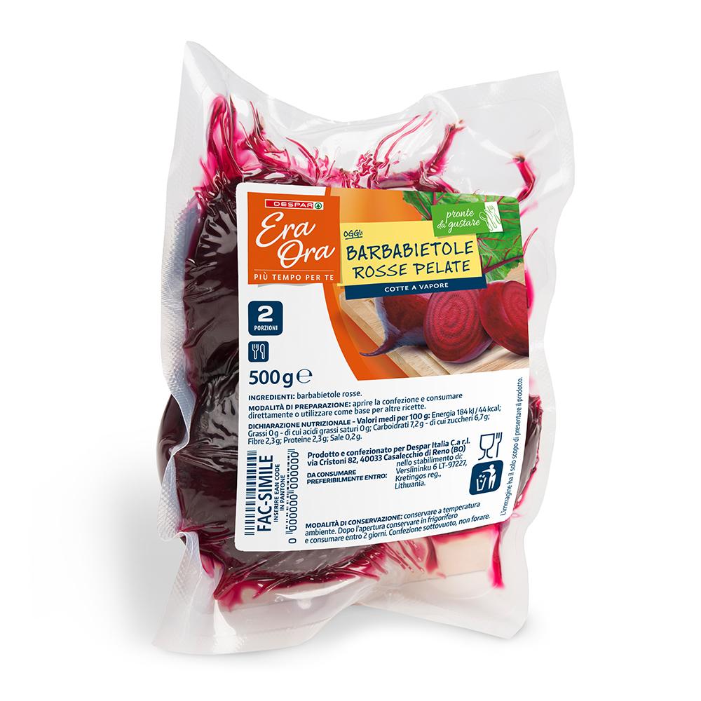 Barbabietole rosse pelate linea prodotti a marchio Despar Era Ora, Despar Italia
