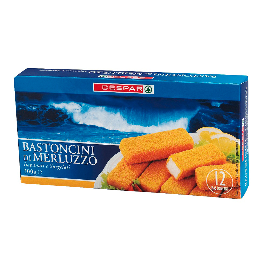 Bastoncini di merluzzo linea prodotti a marchio Despar, Despar Italia