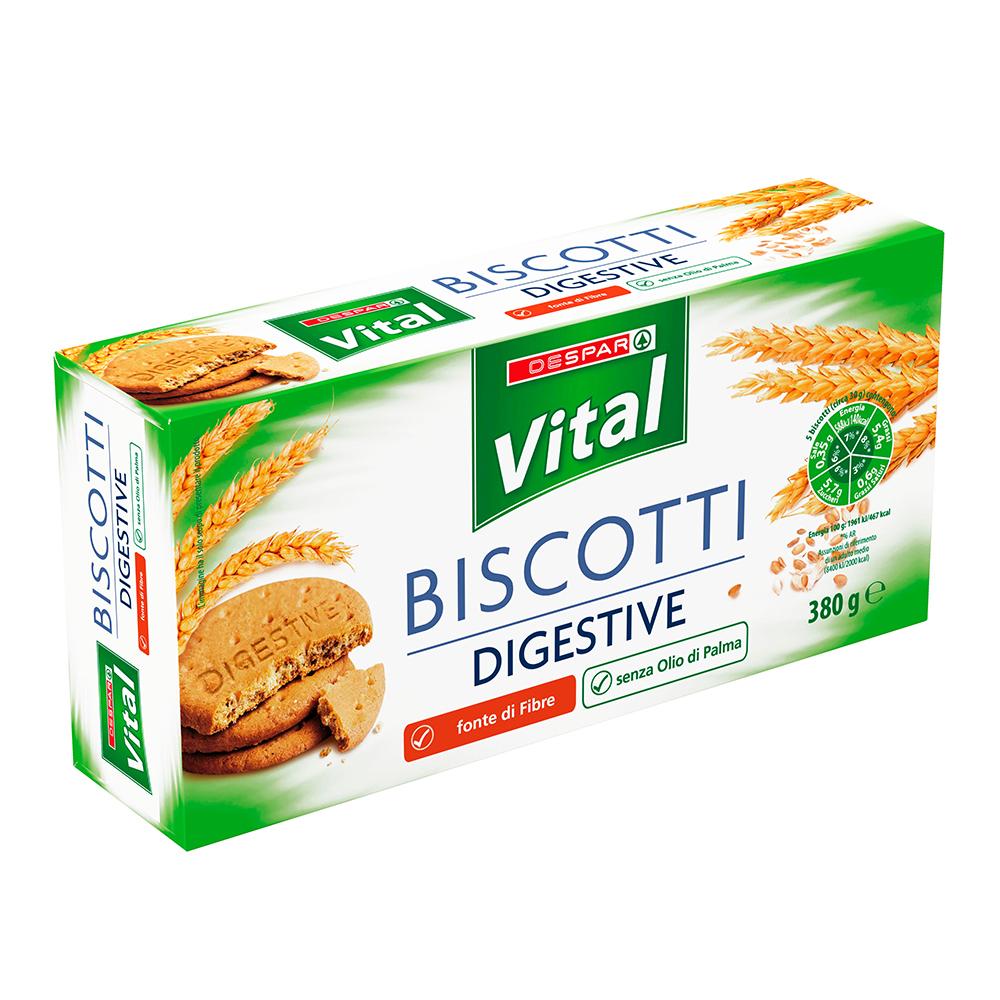 Biscotti digestive linea prodotti a marchio Despar Vital