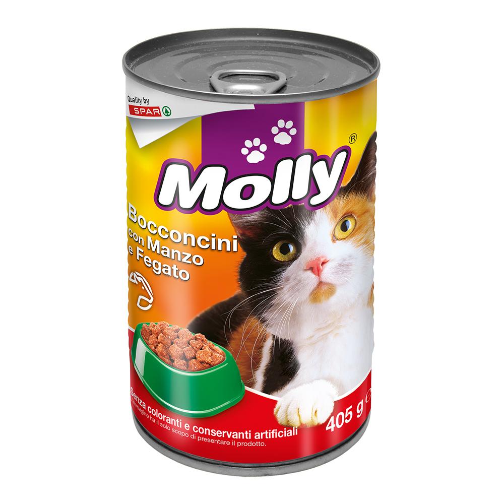 Bocconcini con manzo e fegato linea prodotti a marchio Despar Molly