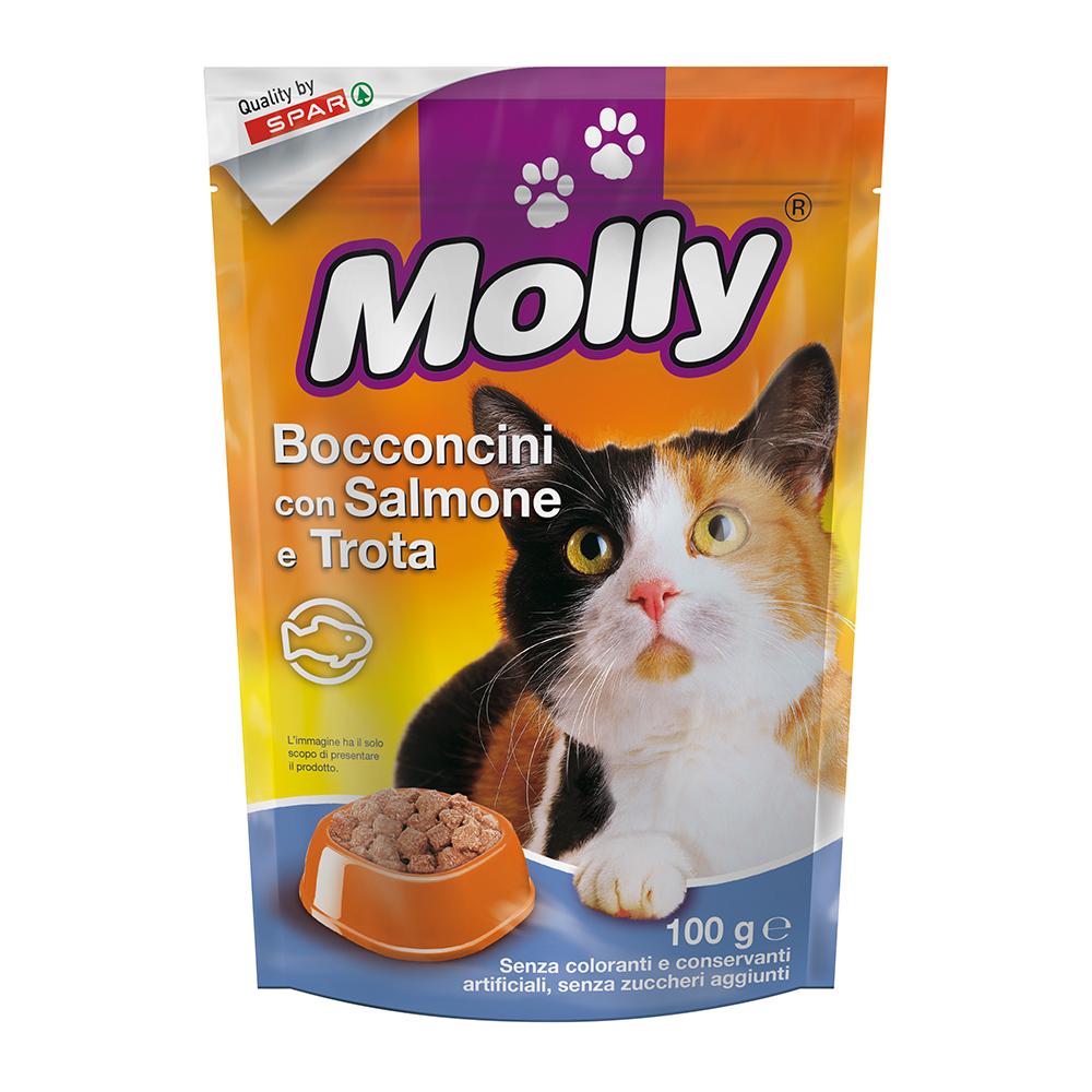 Bocconcini con salmone e trota linea prodotti a marchio Despar Molly