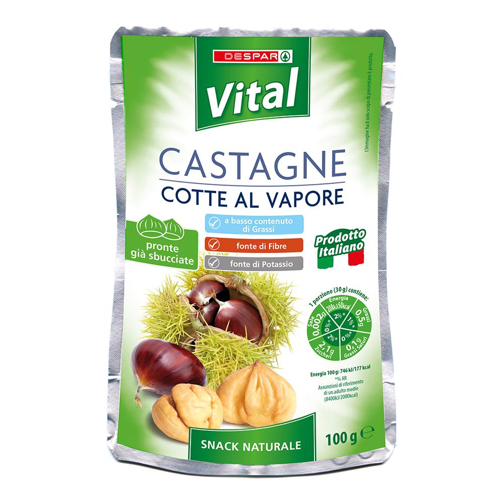 Castagne cotte al vapore linea prodotti a marchio Despar Vital