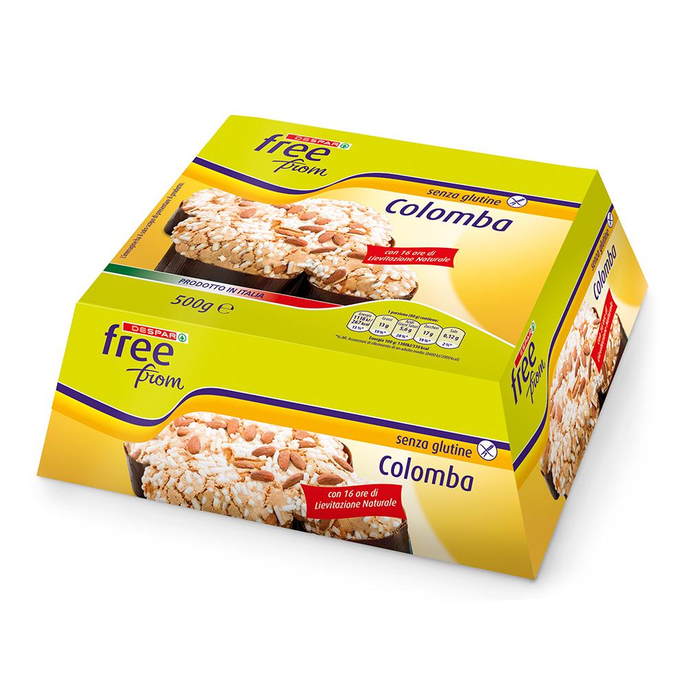 Colomba senza glutine linea prodotti a marchio Despar Free From