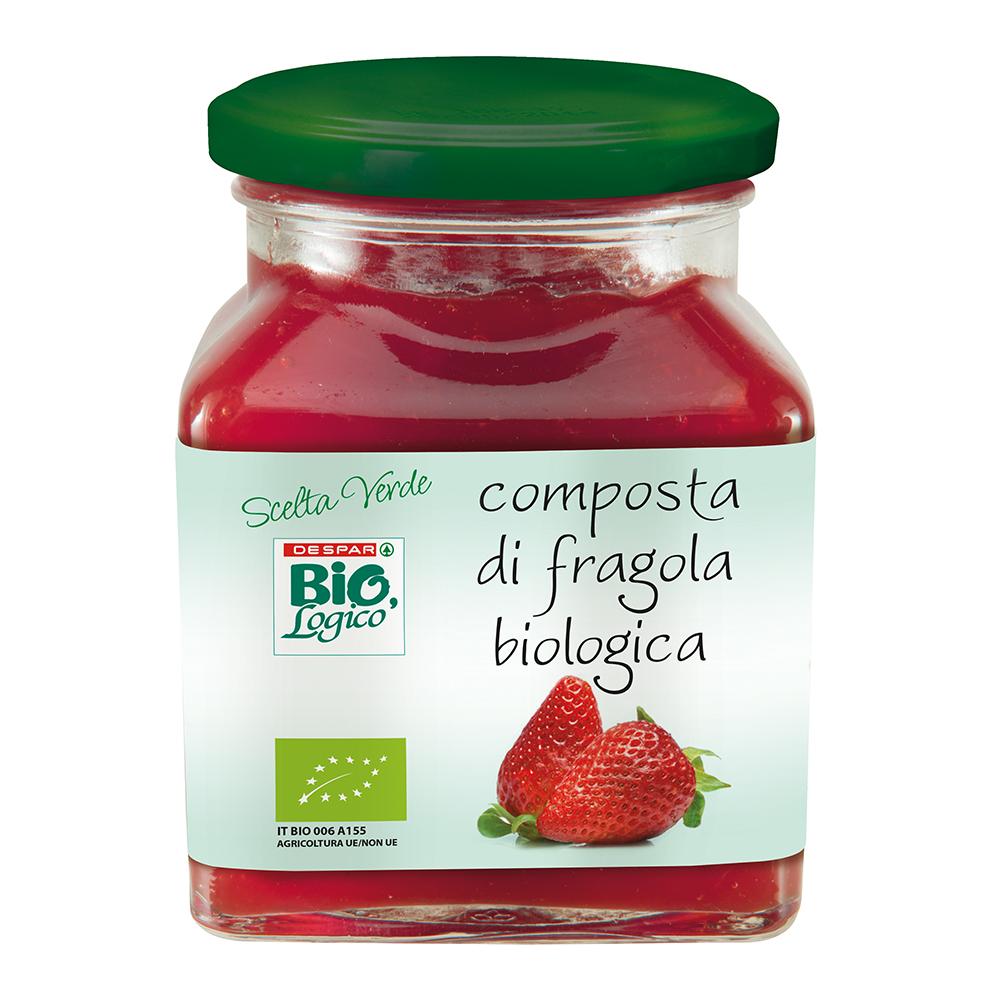 Composta di fragola biologica linea prodotti a marchio Despar Bio,Logico