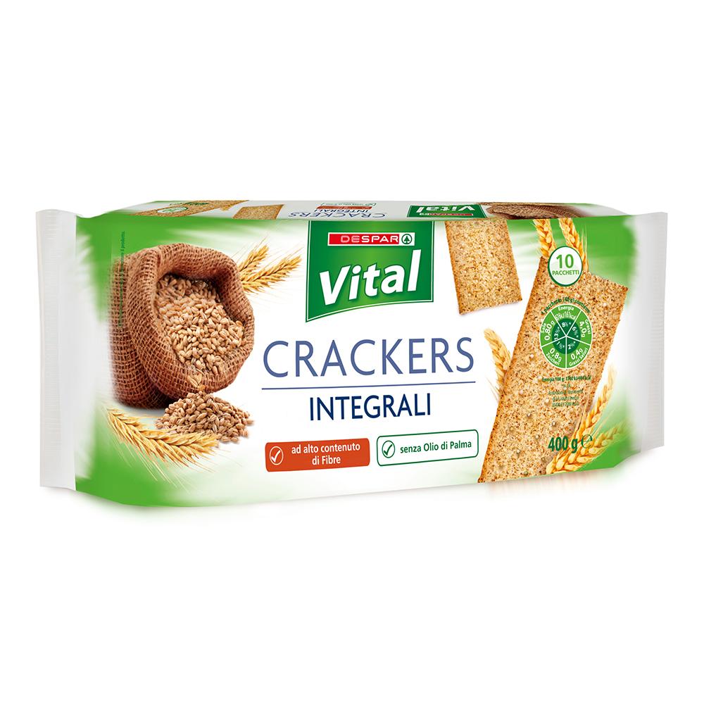 Crackers integrali linea prodotti a marchio Despar Vital