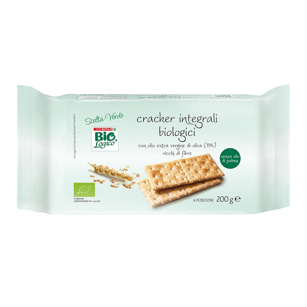 Crackers integrali biologici linea prodotti a marchio Despar Bio,Logico