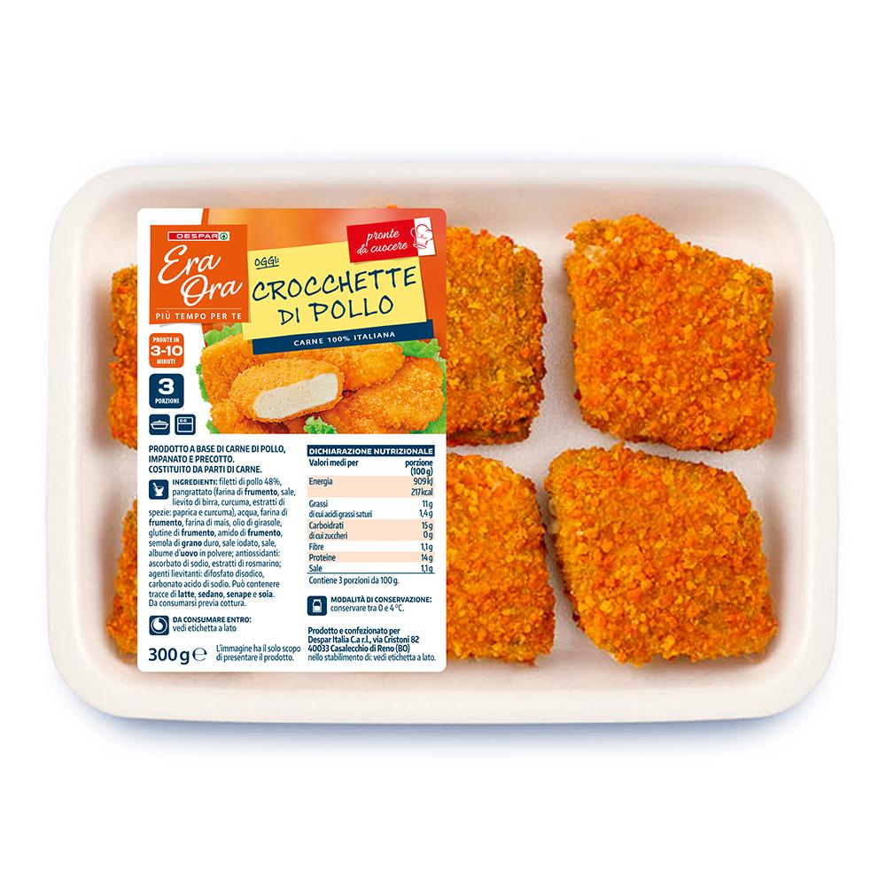 Crocchette di pollo linea prodotti a marchio Despar Era Ora, Despar Italia