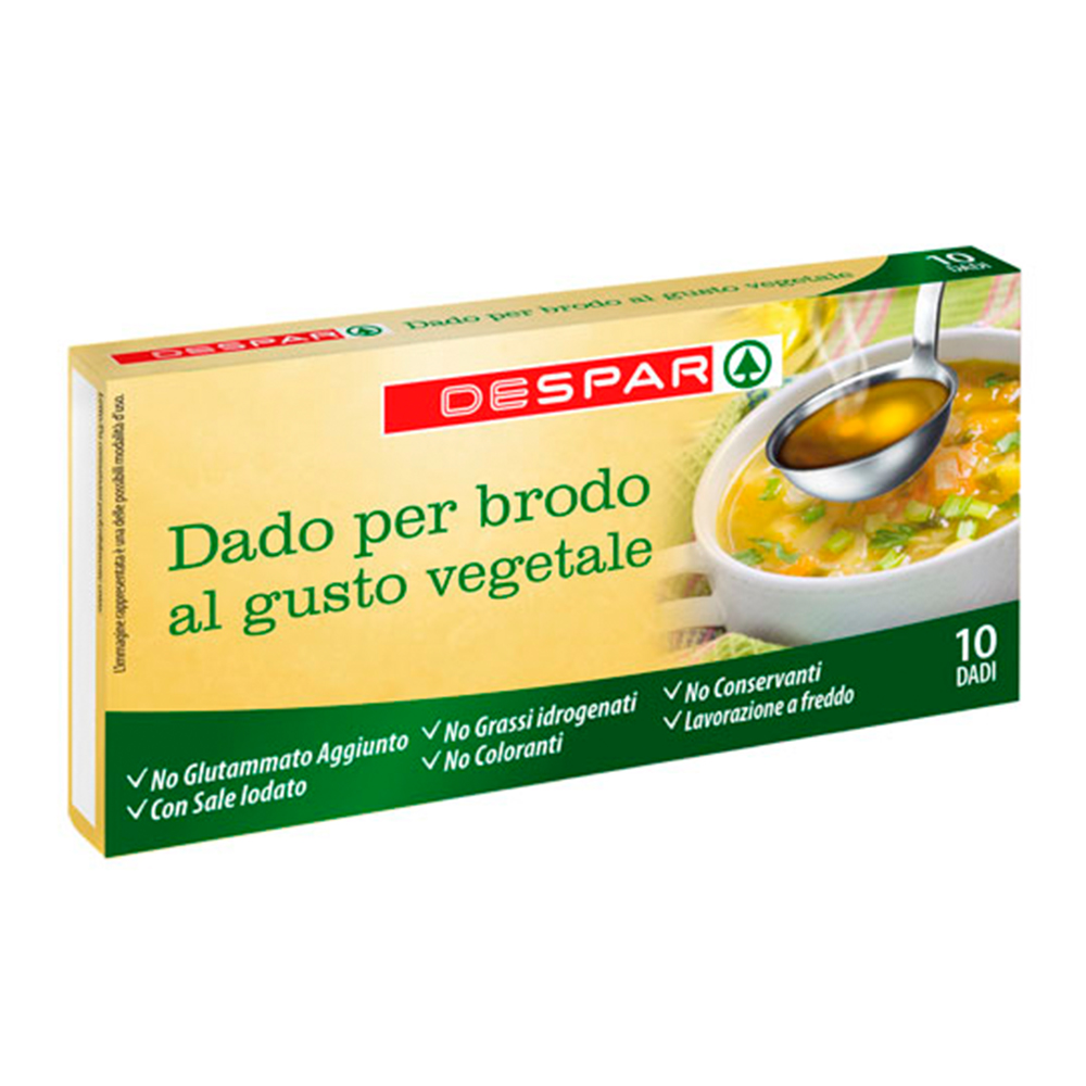 Dado vegetale per brodo linea prodotti a marchio Despar, Despar Italia