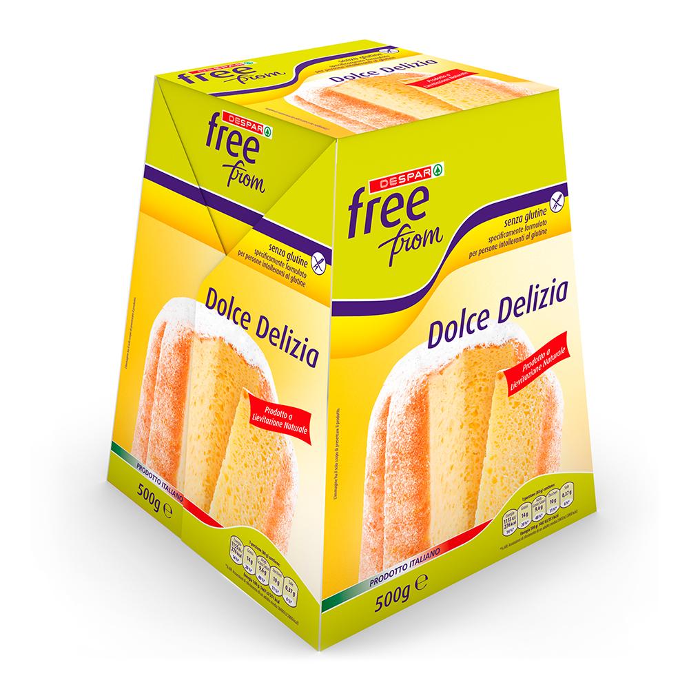 Dolce Delizia pandoro senza glutine linea prodotti a marchio Despar Free From