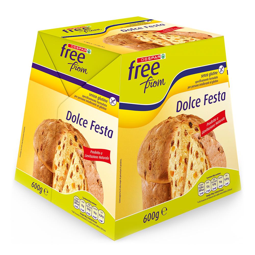 Dolce Festa panettone senza glutine linea prodotti a marchio Despar Free From