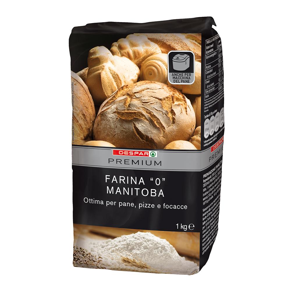 Farina 0 Manitoba linea prodotti a marchio Despar Premium, Despar Italia