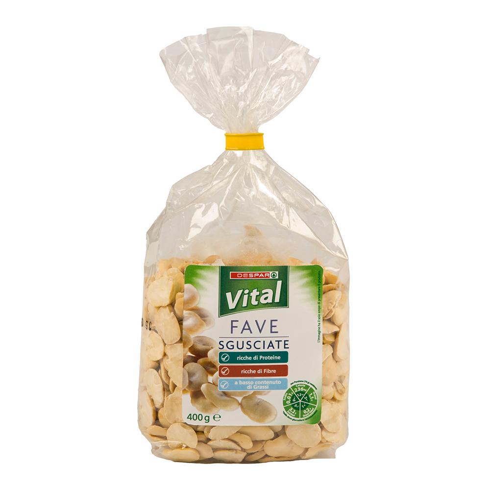 Fave sgusciate linea prodotti a marchio Despar Vital