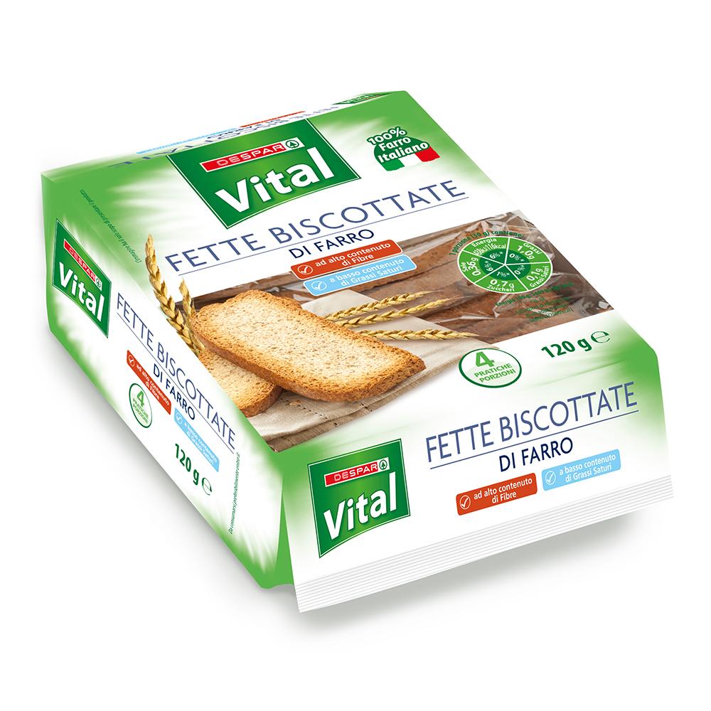 Ferre biscottate di farro linea prodotti a marchio Despar Vital