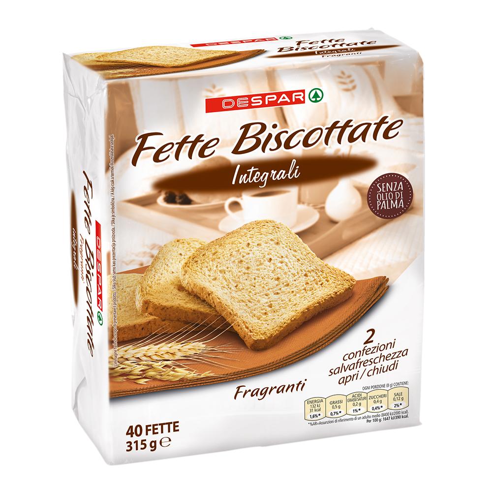 Fette biscottate integrali linea prodotti a marchio Despar, Despar Italia