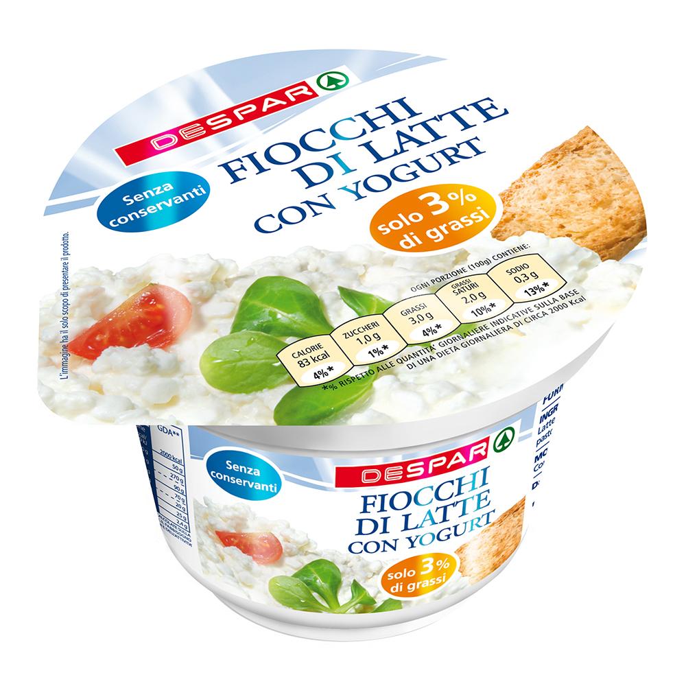 Fiocchi di latte con yogurt linea prodotti a marchio Despar, Despar Italia