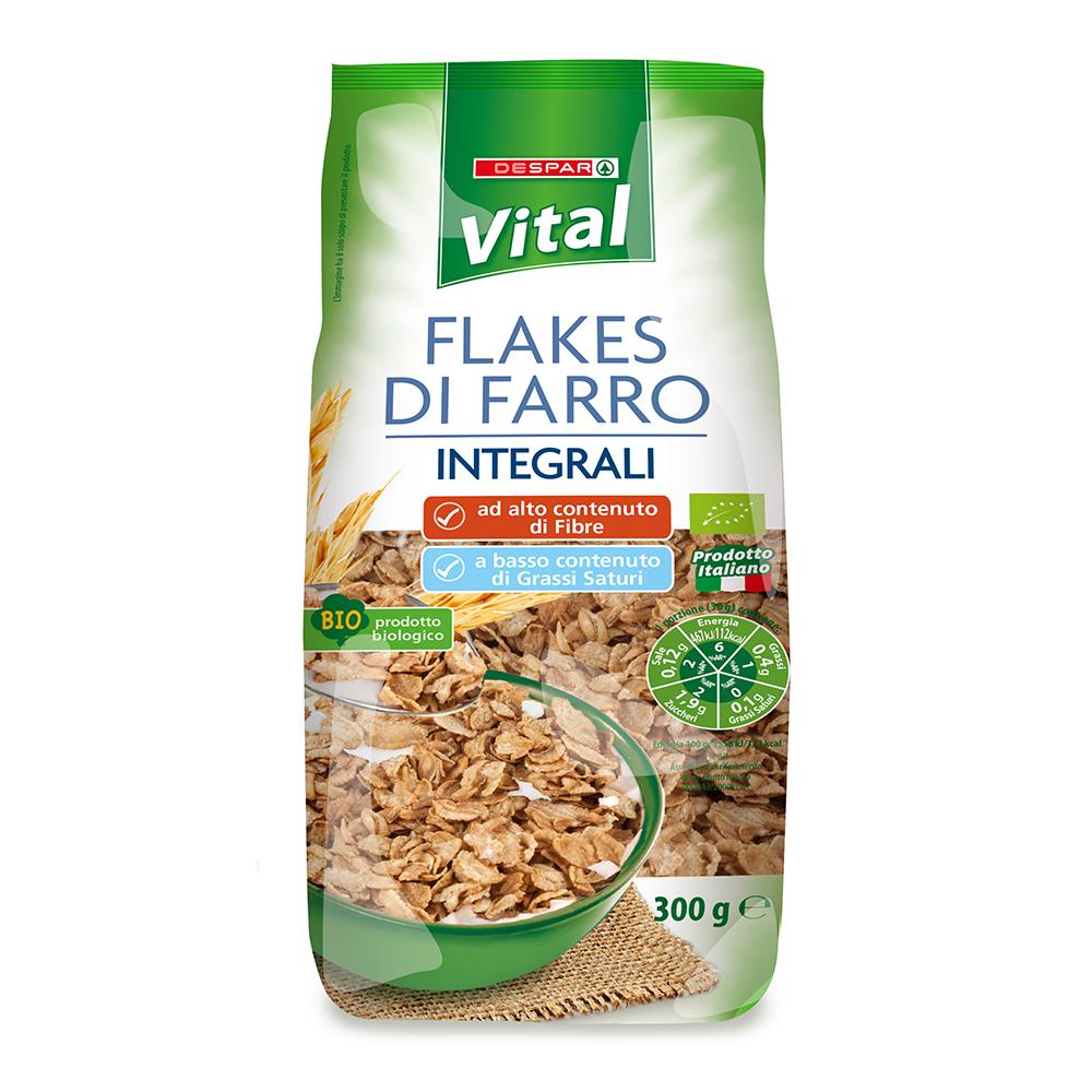 Flakes di farro integrali linea prodotti a marchio Despar Vital