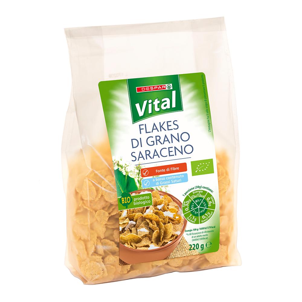 Flakes di grano saraceno linea prodotti a marchio Despar Vital
