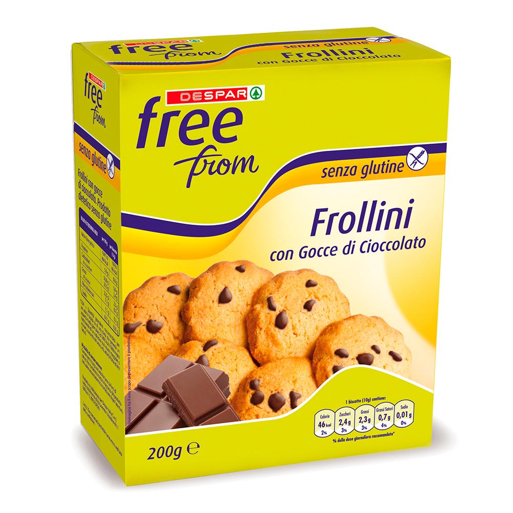 Frollini con gocce di cioccolato linea prodotti a marchio Despar Free From