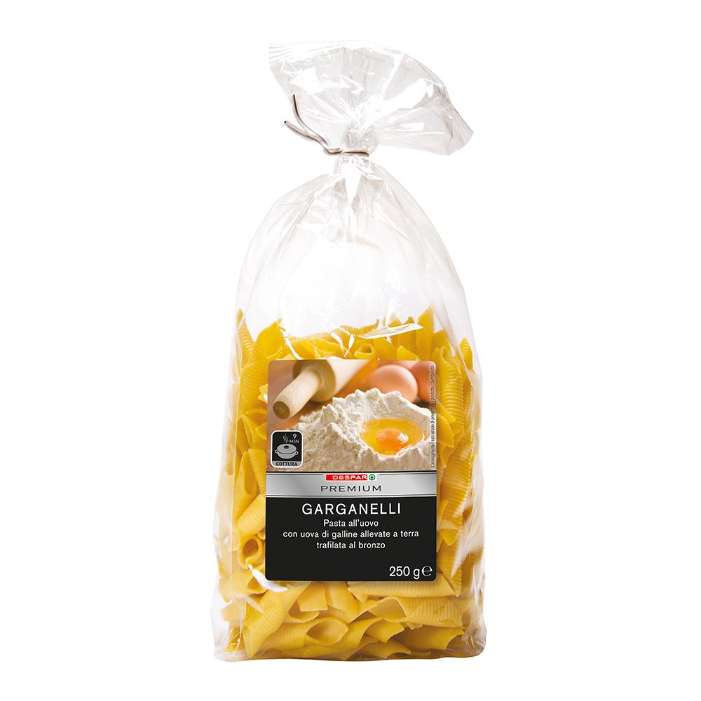 Pasta all'uovo garganelli linea prodotti a marchio Despar Premium, Despar Italia