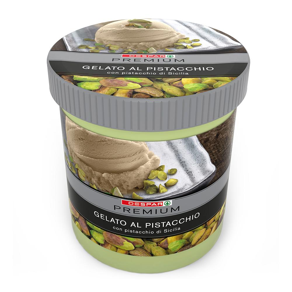 Gelato al pistacchio linea prodotti a marchio Despar Premium, Despar Italia