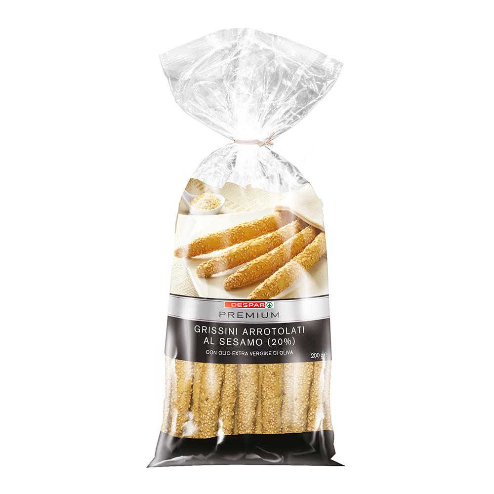 Grissini arrotolati al sesamo linea prodotti a marchio Despar Premium, Despar Italia