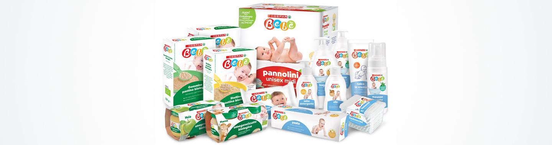 Assortimento prodotti della line aDespar Bebè per la cura, igiene e alimentazione bambini