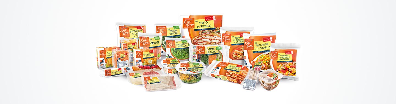 Selezione di prodotti della linea a marchio Despar Italia Era Ora
