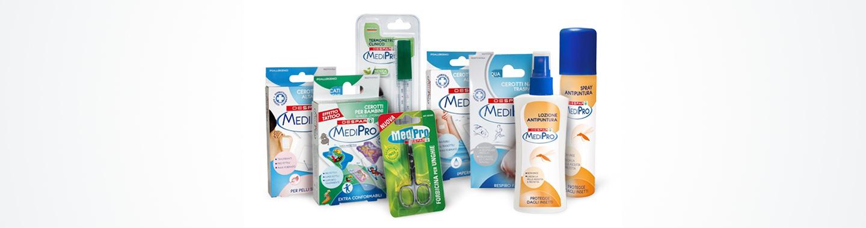 Assortimento di prodotti per la parafarmacia MediPro Despar Italia