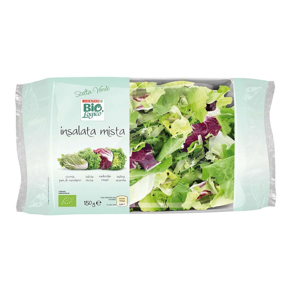 Insalata mista 150 g linea prodotti a marchio Despar Bio,Logico