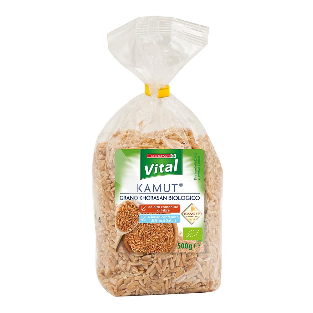 Kamut, grano khorasan biologico linea prodotti a marchio Despar Vital