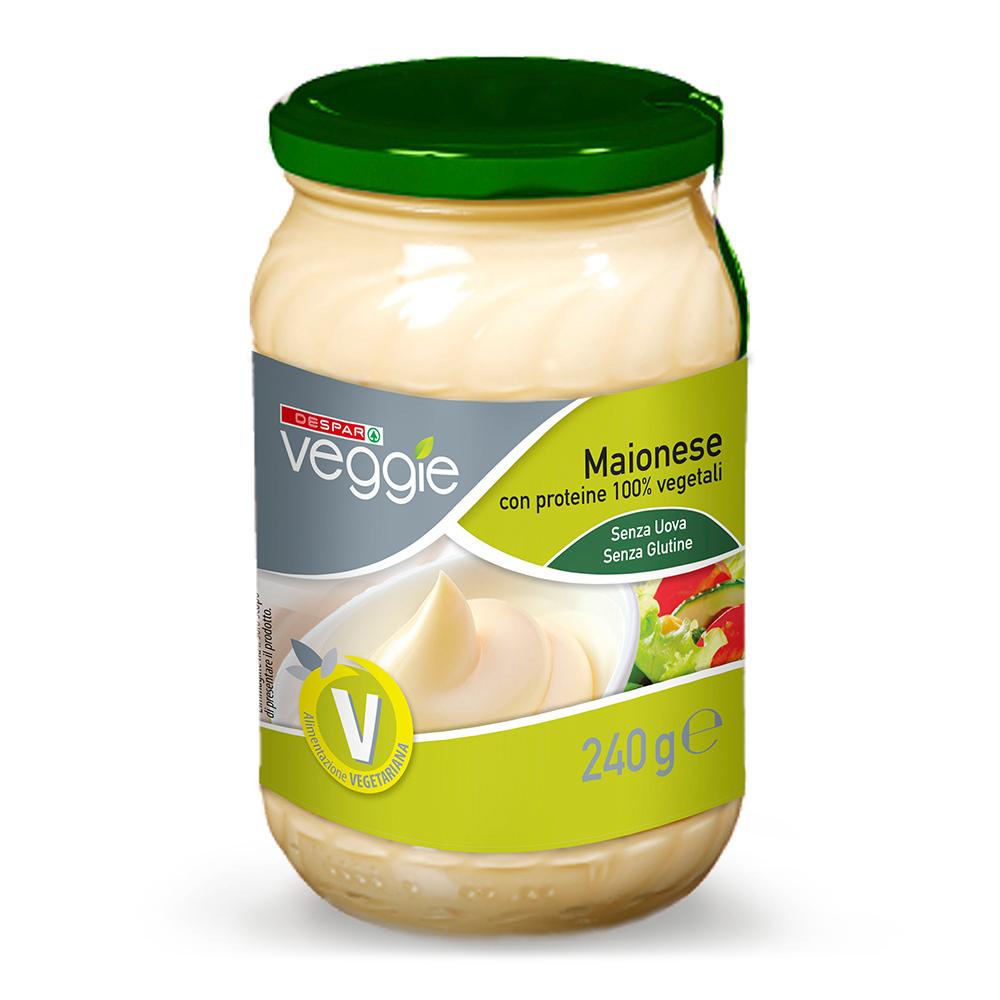 Maionese senza uova senza glutine linea prodotti a marchio Despar Veggie