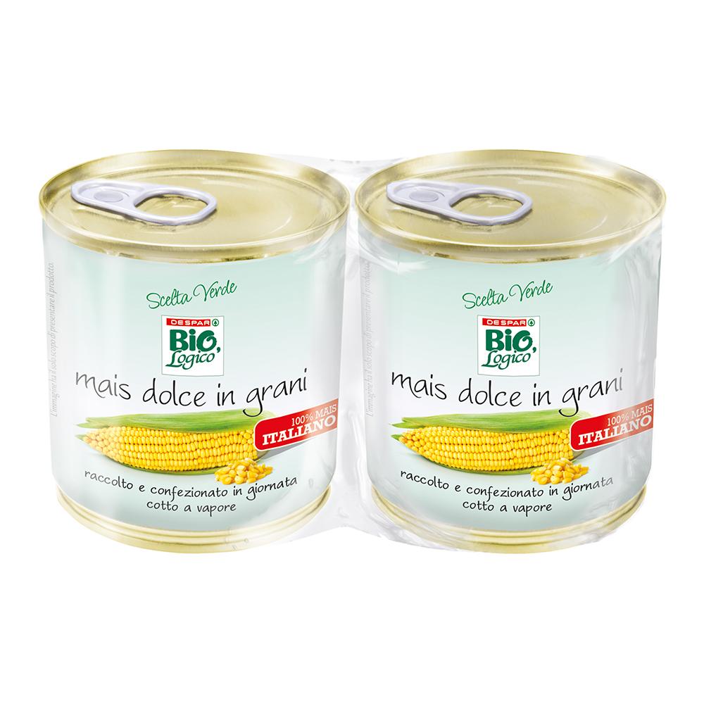 Mais dolce in grani in barattolo linea prodotti a marchio Despar Bio,Logico