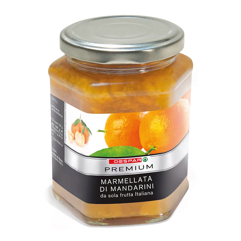 Marmellata di mandarini linea prodotti a marchio Despar Premium, Despar Italia