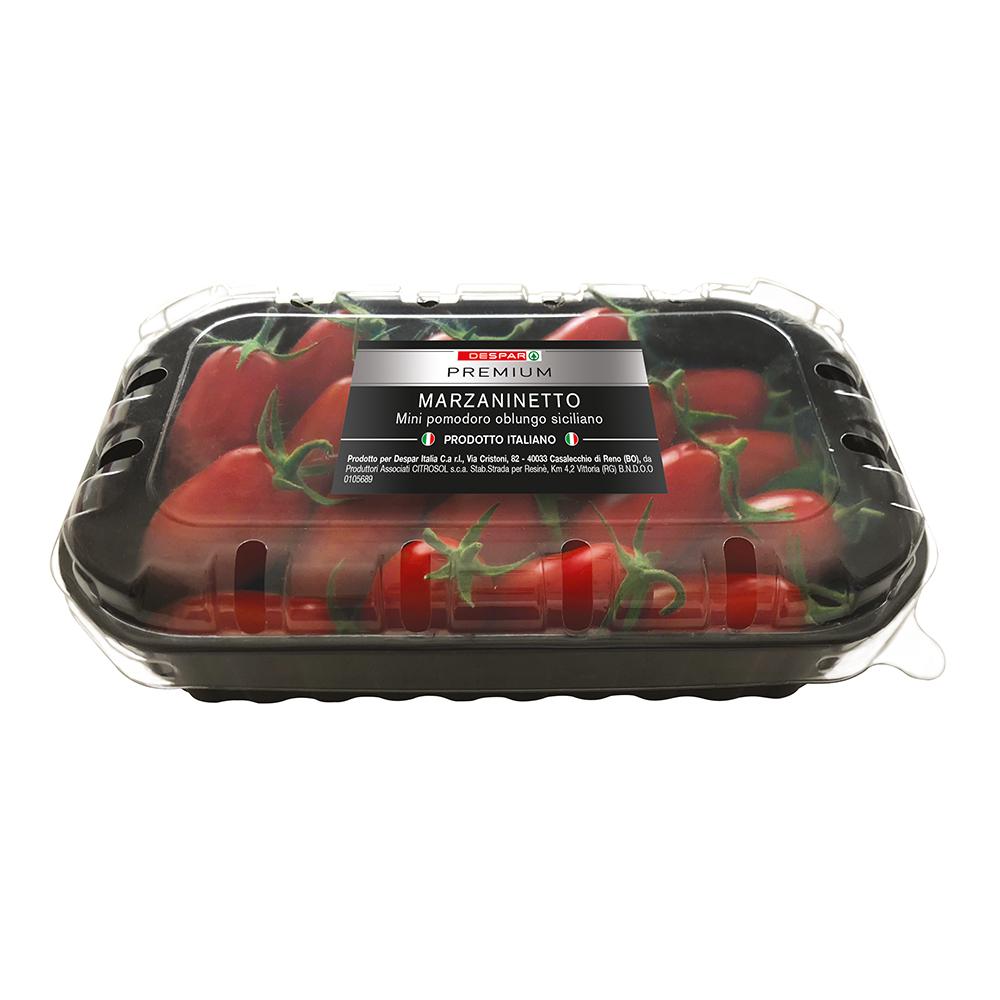 Marzaninetto mini pomodoro oblungo siciliano linea prodotti a marchio Despar Premium, Despar Italia