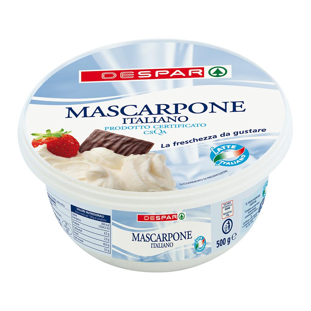 Mascarpone italiano linea prodotti a marchio Despar, Despar Italia