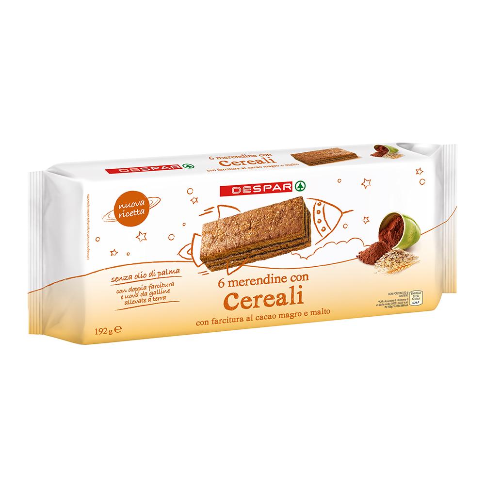 Merendine con i cereali linea prodotti a marchio Despar, Despar Italia