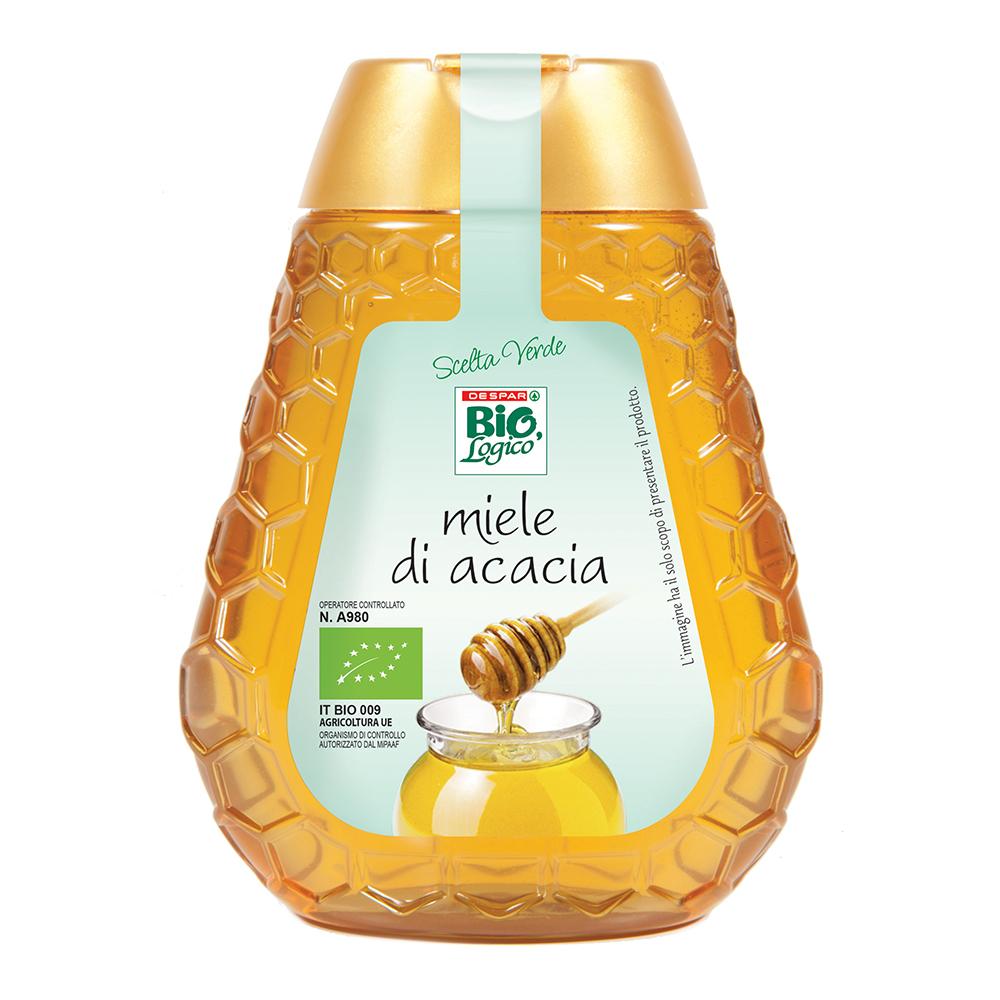 Miele di acacia linea prodotti a marchio Despar Bio,Logico