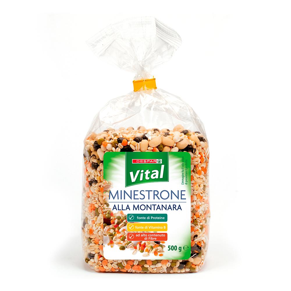 Minestrone alla montanara linea prodotti a marchio Despar Vital