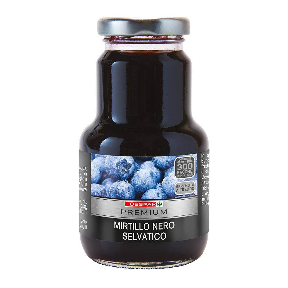 Mirtillo nero selvatico linea prodotti a marchio Despar Premium, Despar Italia