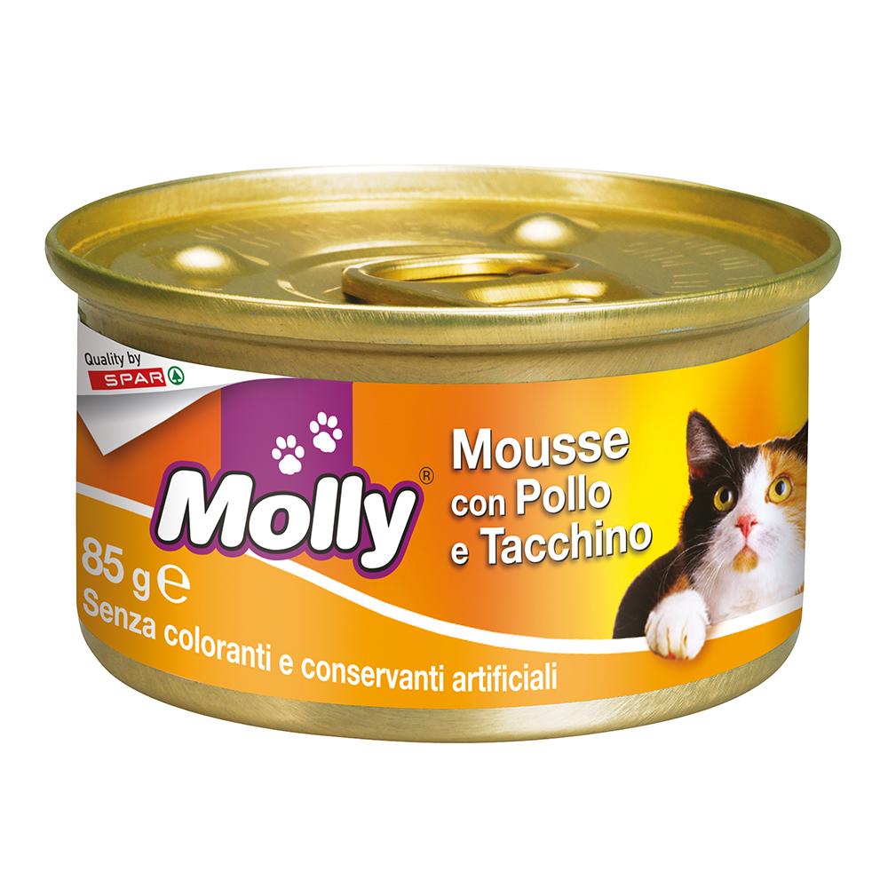 Mousse con pollo e tacchino 85 g linea prodotti a marchio Despar Molly