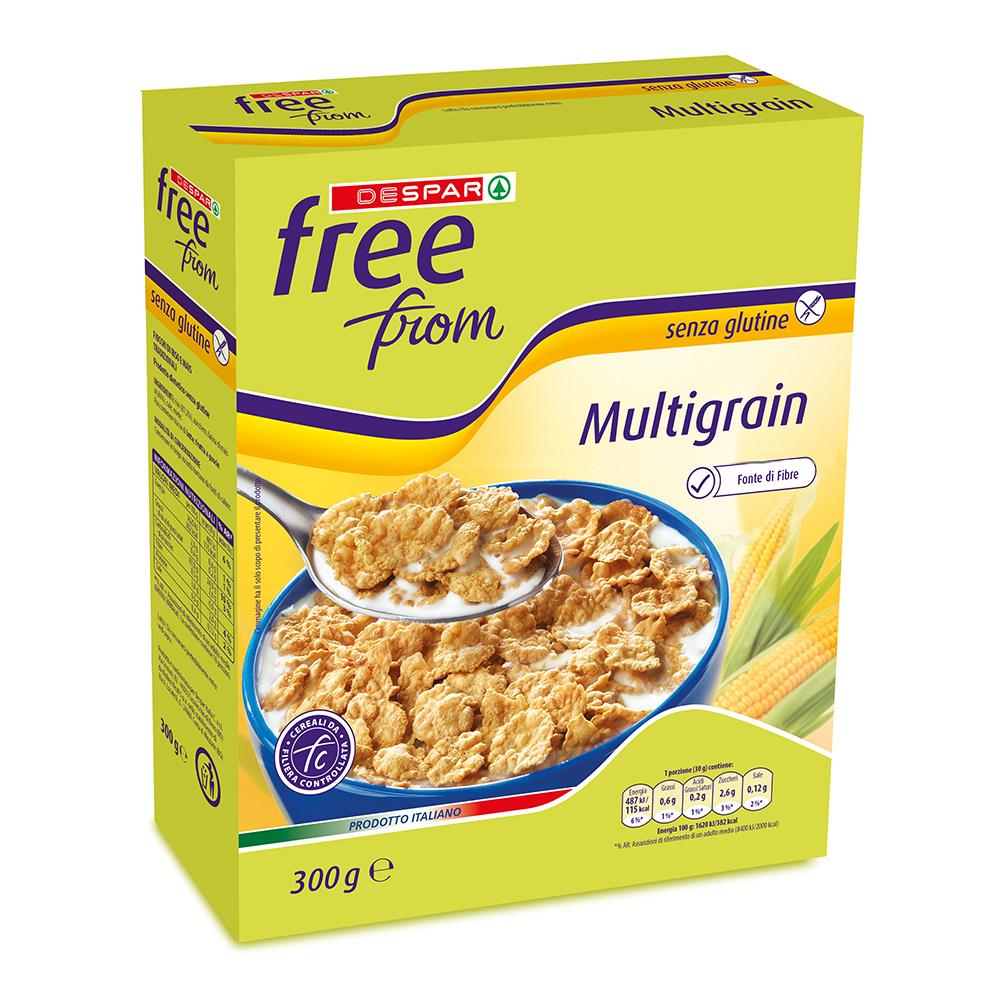 Multigrain linea prodotti a marchio Despar Free From