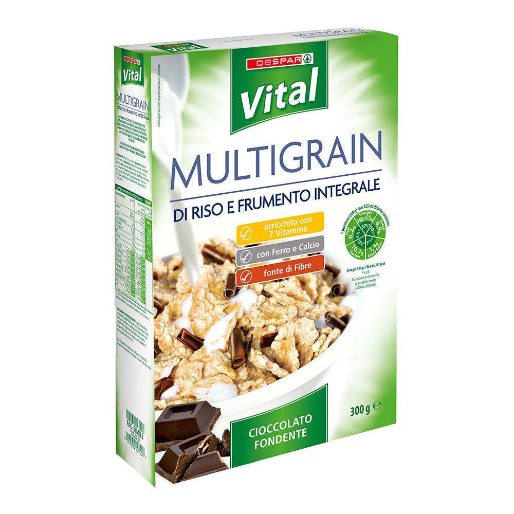 Multigrain di riso e frumento integrale linea prodotti a marchio Despar Vital