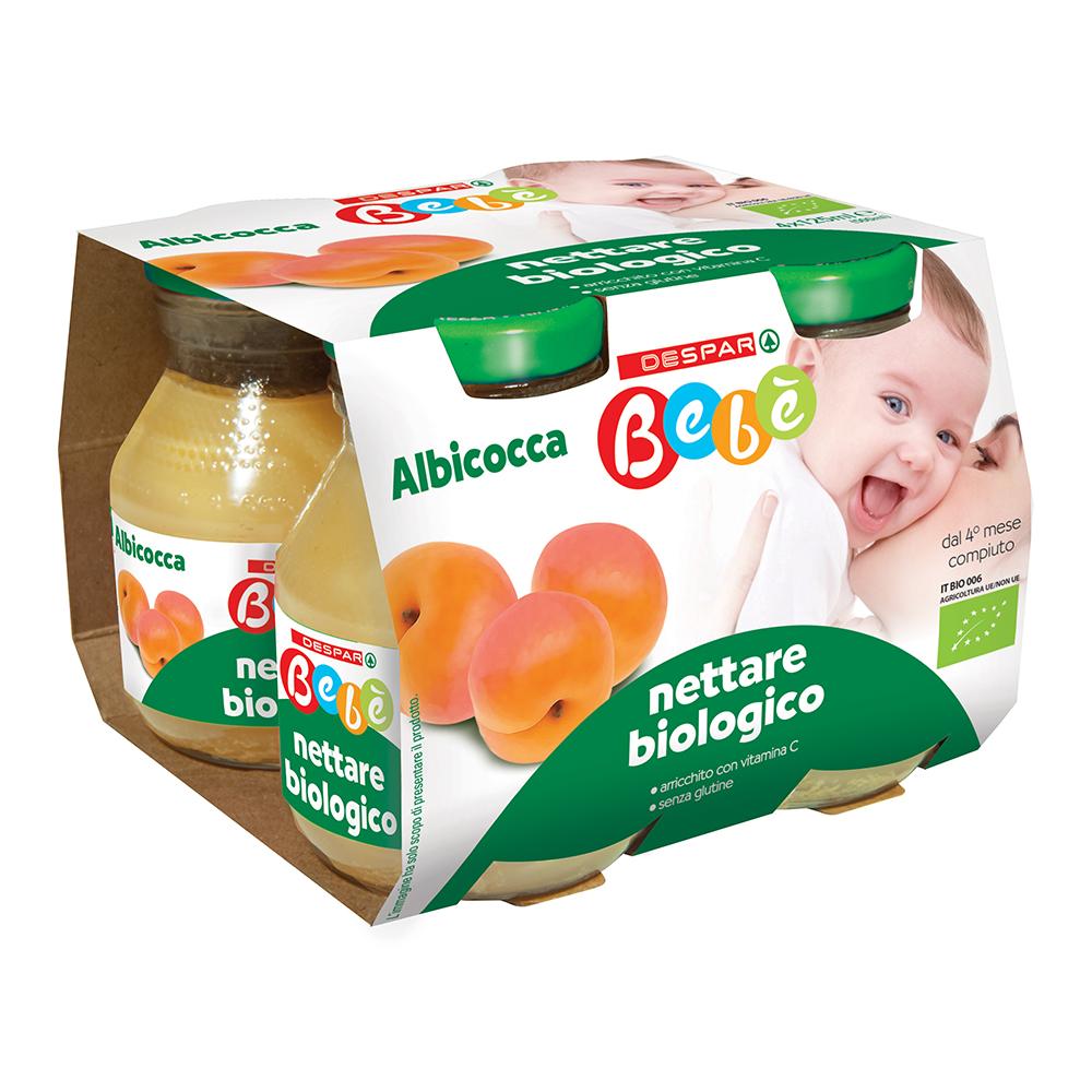 Nettare biologico albicocca 4x125 g linea prodotti a marchio Despar Bebè