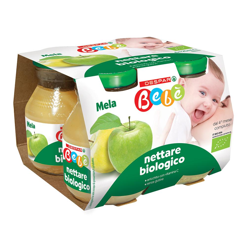 Nettare biologico mela 4x125 g linea prodotti a marchio Despar Bebè
